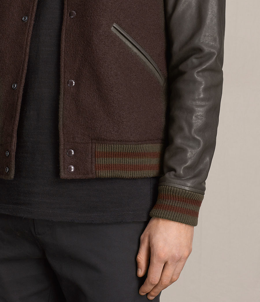 Hommes Bomber Buck (oxblood_red_brown) - Image 2