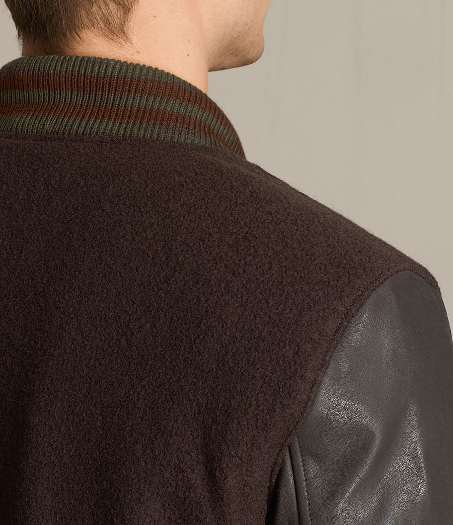 Hommes Bomber Buck (oxblood_red_brown) - Image 4