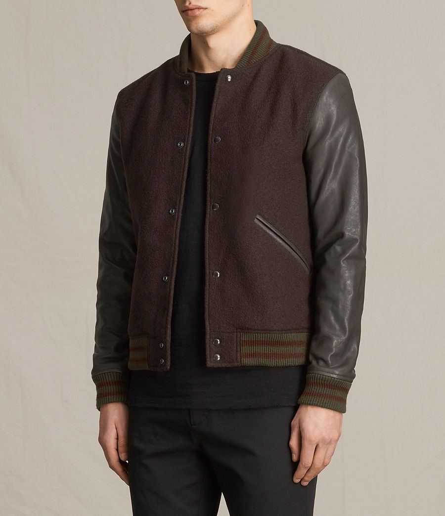 Hommes Bomber Buck (oxblood_red_brown) - Image 5