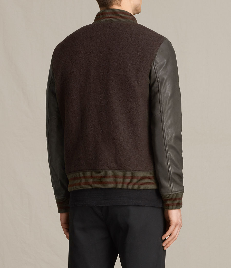 Hommes Bomber Buck (oxblood_red_brown) - Image 7