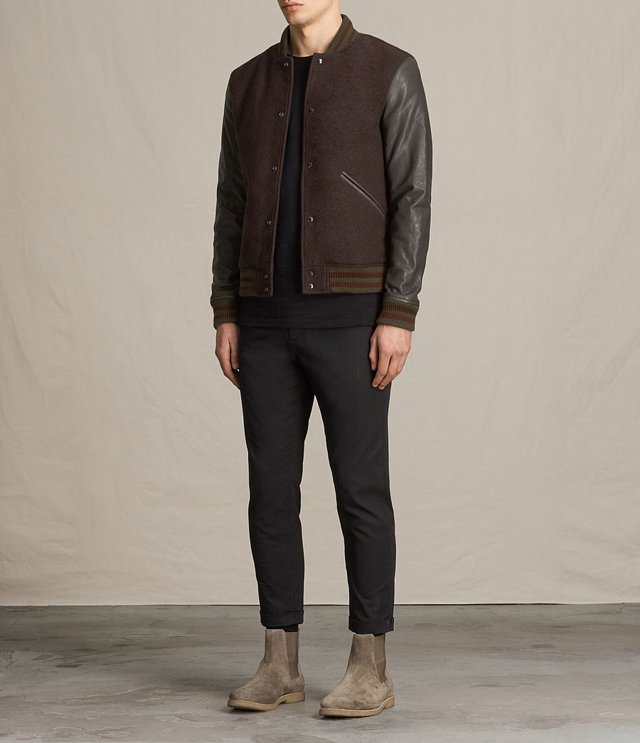 Hommes Bomber Buck (oxblood_red_brown) - Image 8