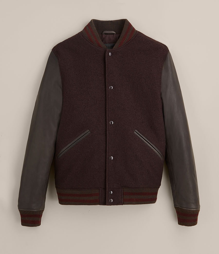 Hommes Bomber Buck (oxblood_red_brown) - Image 9