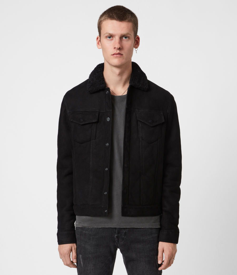 Men's Coley Shearling Jacket (black) - Image 1