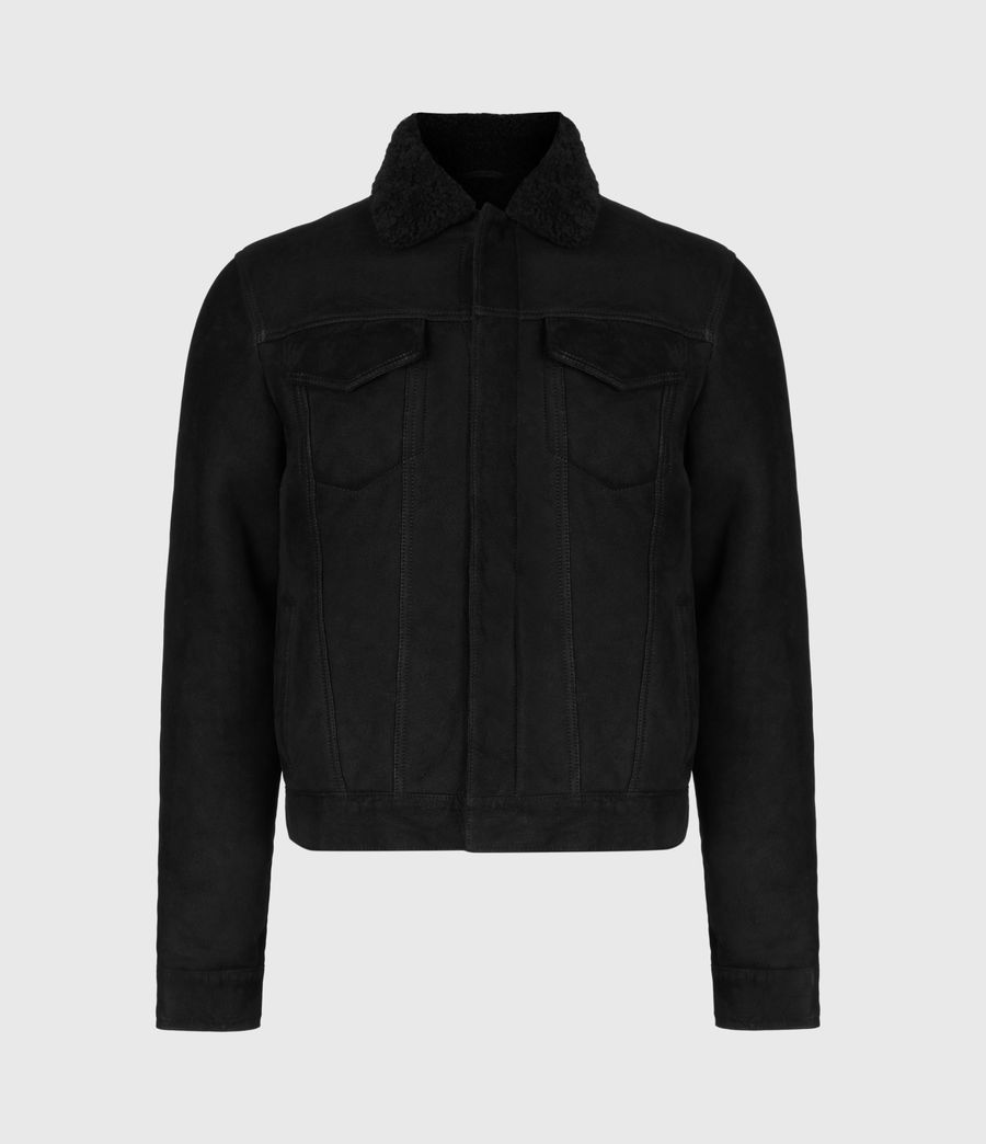 Men's Coley Shearling Jacket (black) - Image 2
