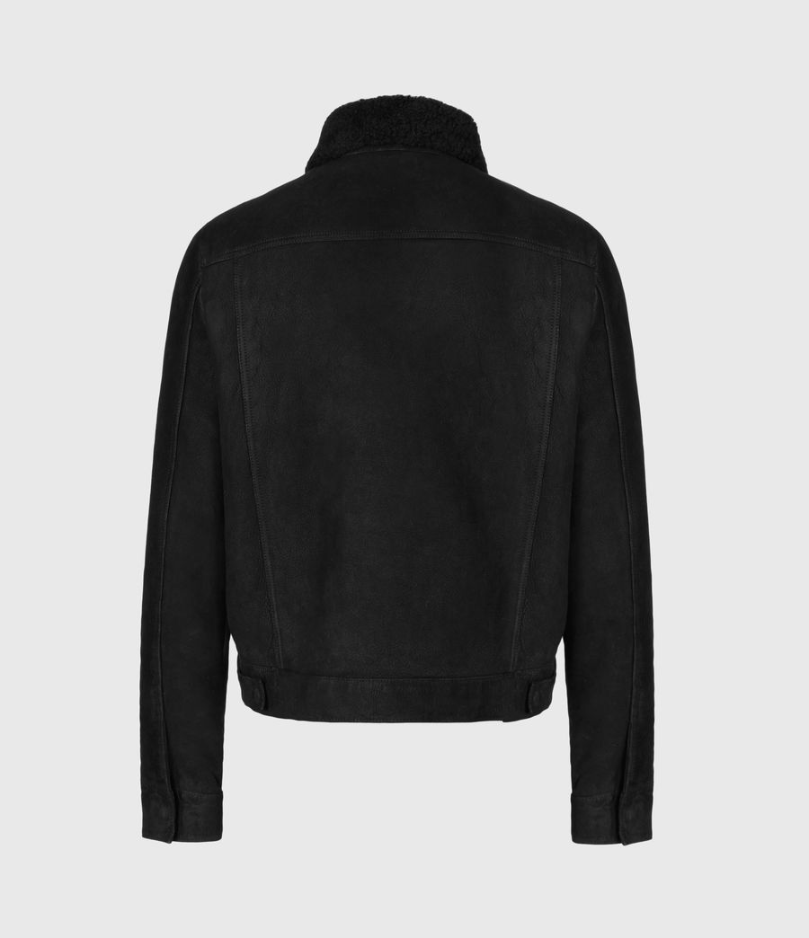 Men's Coley Shearling Jacket (black) - Image 3