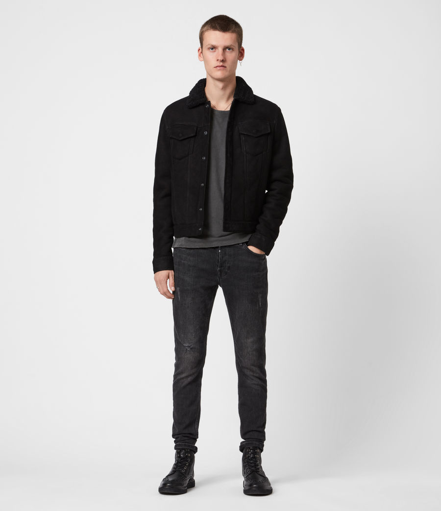 Men's Coley Shearling Jacket (black) - Image 4