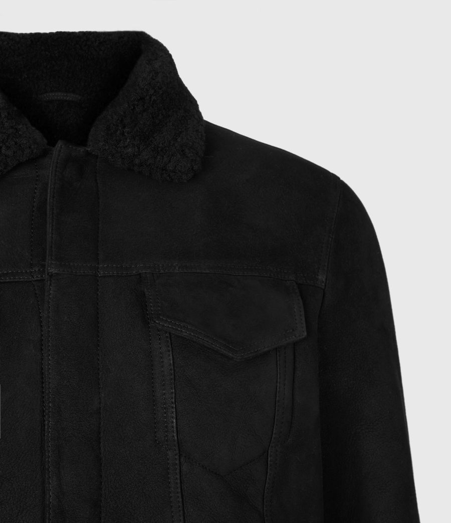 Men's Coley Shearling Jacket (black) - Image 5