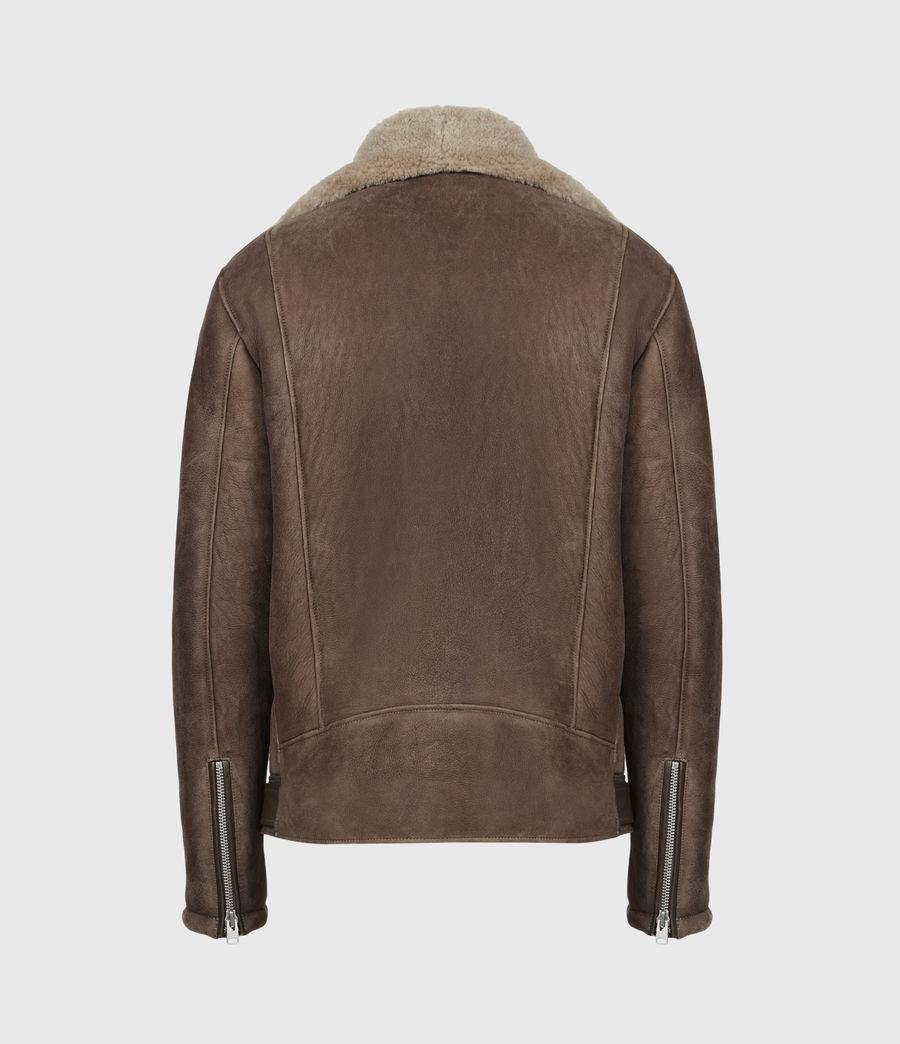 Men's Terro Shearling Biker Jacket (hazelnut_taupe) - Image 3