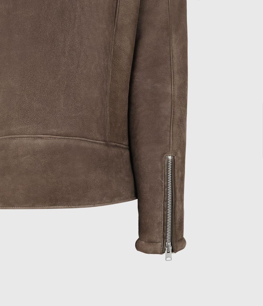 Men's Terro Shearling Biker Jacket (hazelnut_taupe) - Image 6