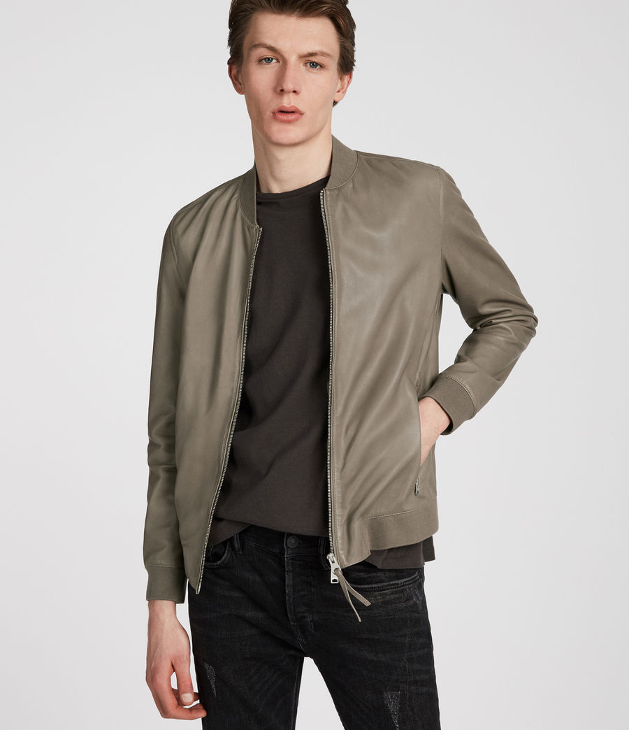 Mens Mower Bomber (mink_grey) - Image 2