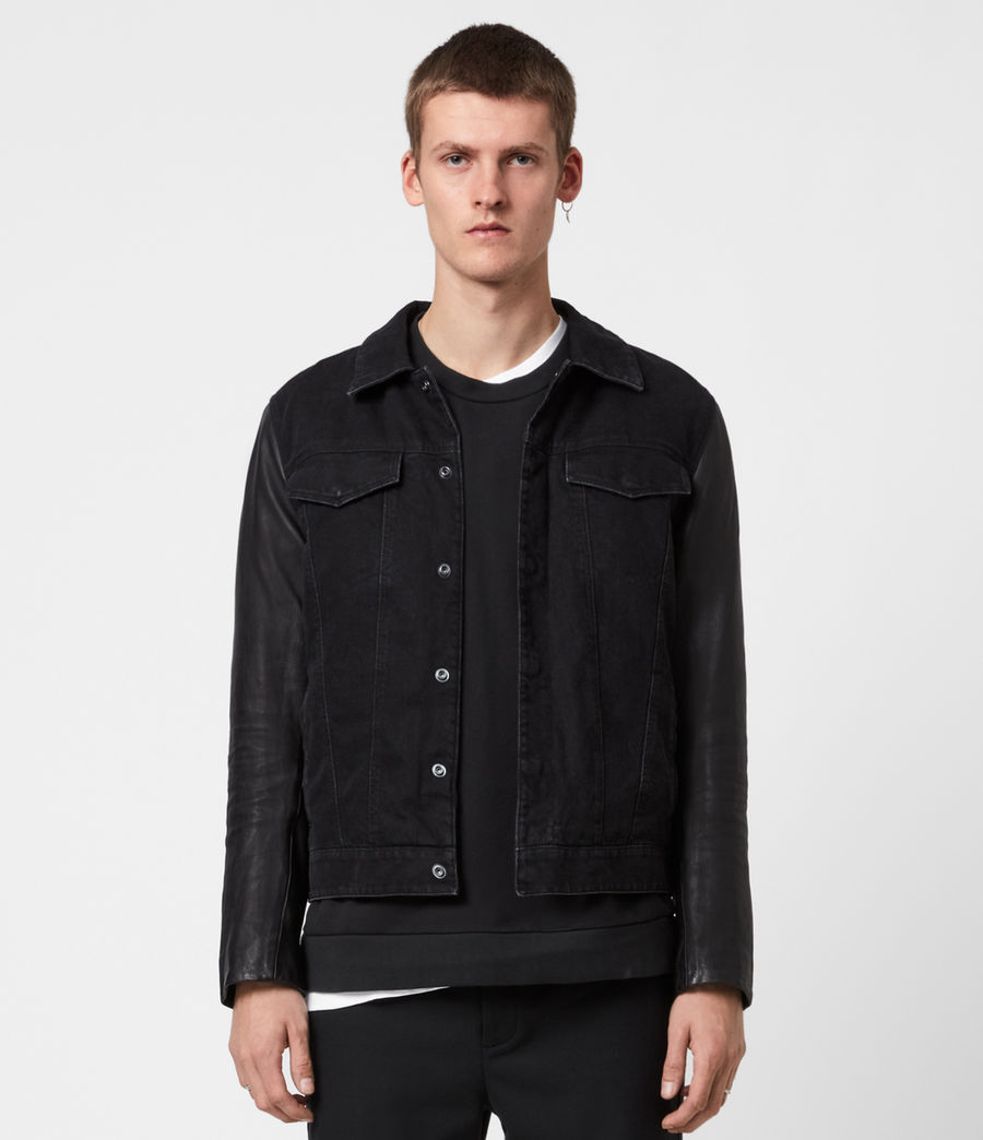 Mens Bennett Denim Jacket (black) - Image 1