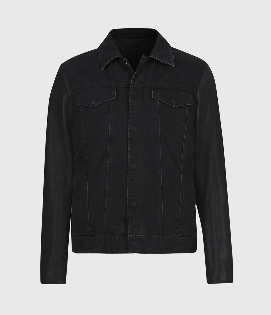 Mens Bennett Denim Jacket (black) - Image 2