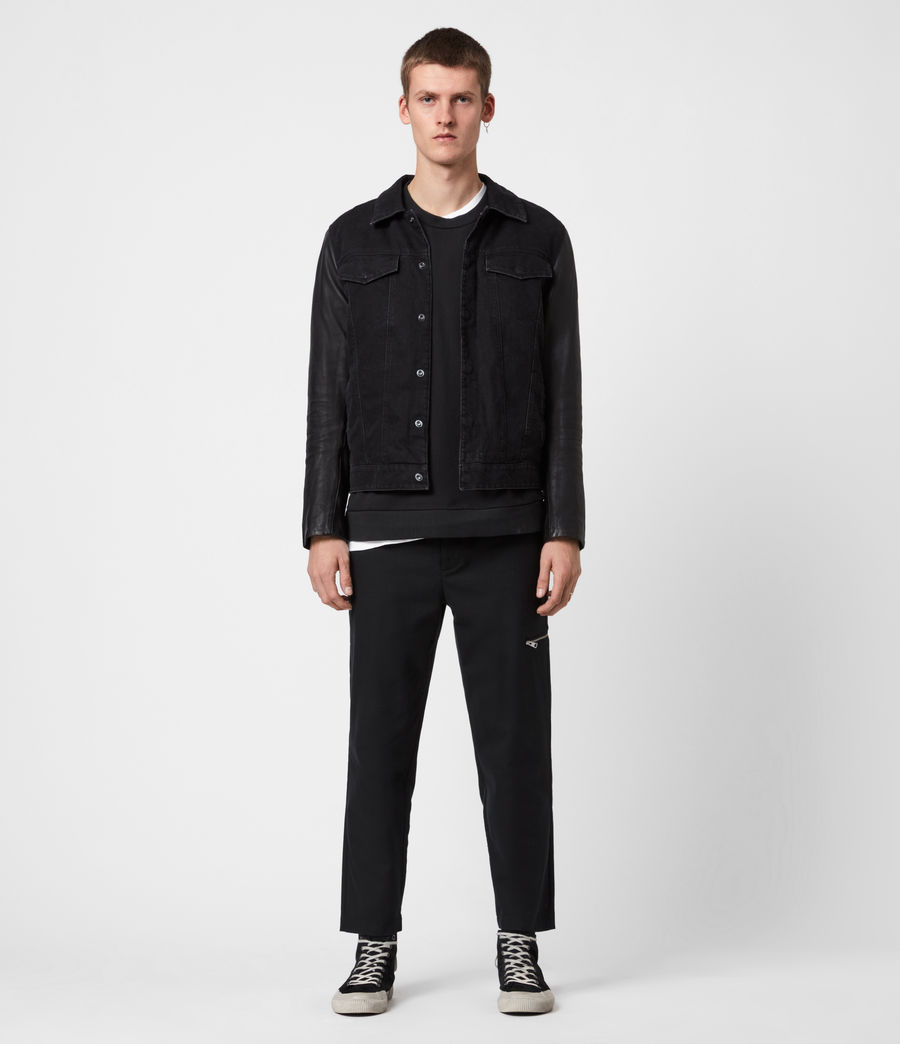 Mens Bennett Denim Jacket (black) - Image 3