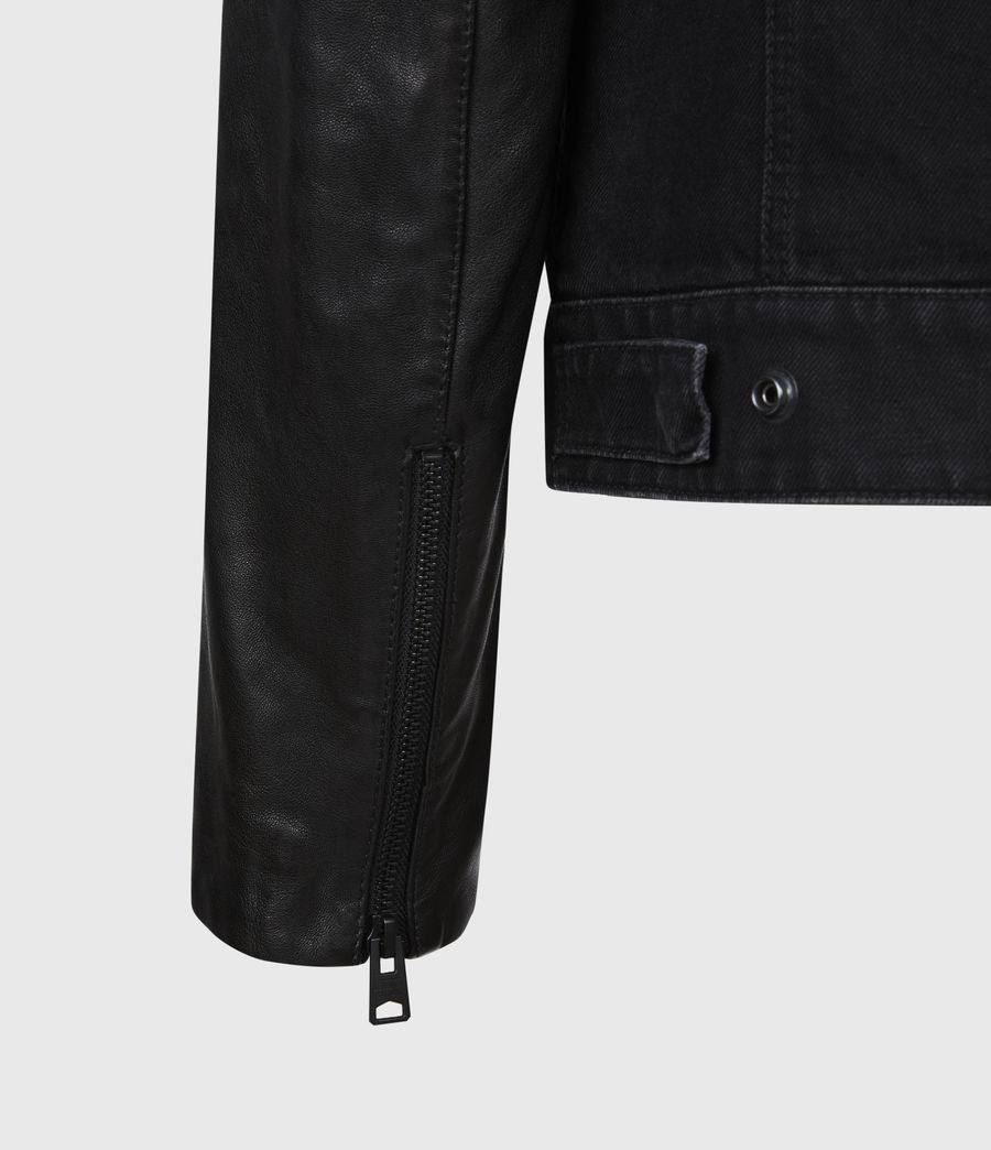 Mens Bennett Denim Jacket (black) - Image 4