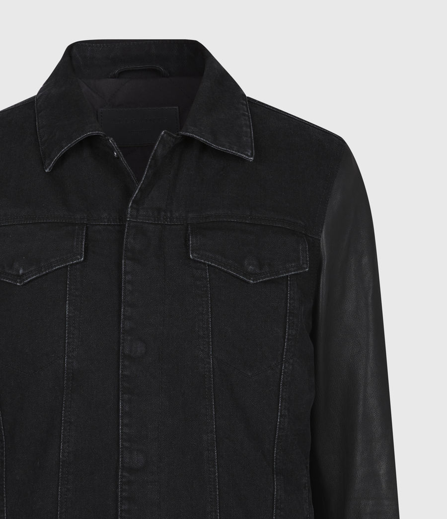 Mens Bennett Denim Jacket (black) - Image 5
