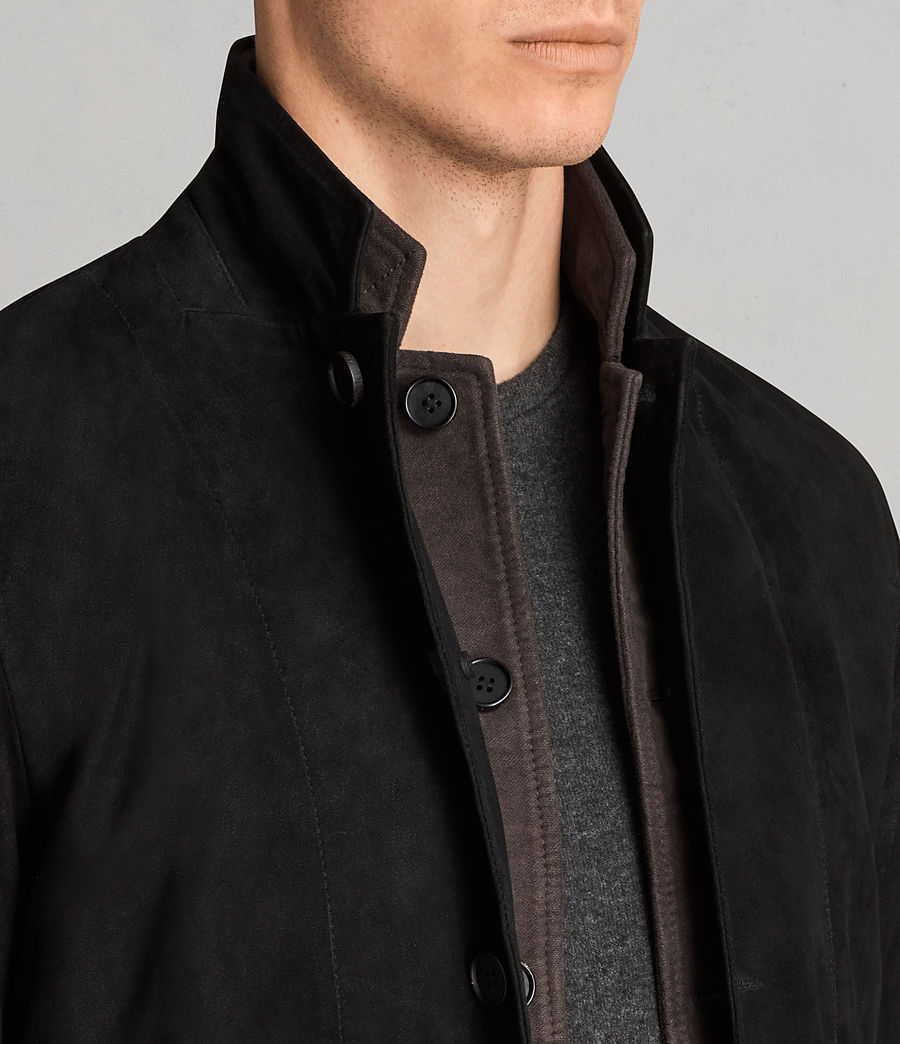 Men's Liath Suede Blazer (black) - Image 2