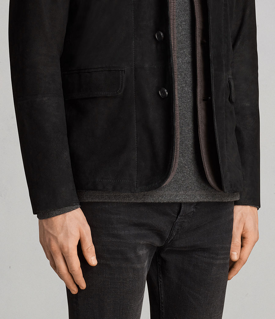 Men's Liath Suede Blazer (black) - Image 4