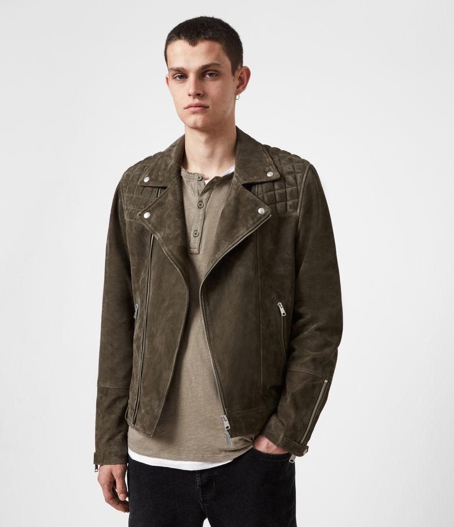 Men's Whelan Suede Biker Jacket (balkan_green) - Image 1