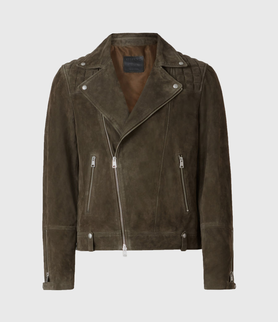 Men's Whelan Suede Biker Jacket (balkan_green) - Image 2