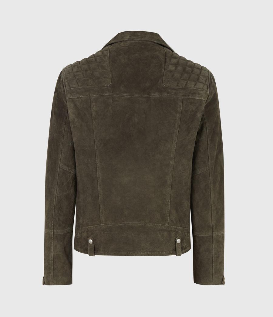 Men's Whelan Suede Biker Jacket (balkan_green) - Image 3