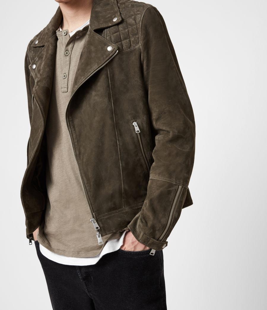 Men's Whelan Suede Biker Jacket (balkan_green) - Image 4