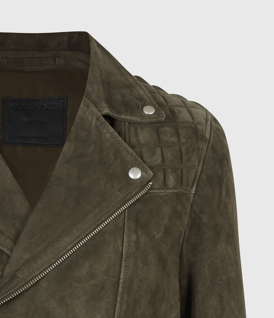 Men's Whelan Suede Biker Jacket (balkan_green) - Image 5