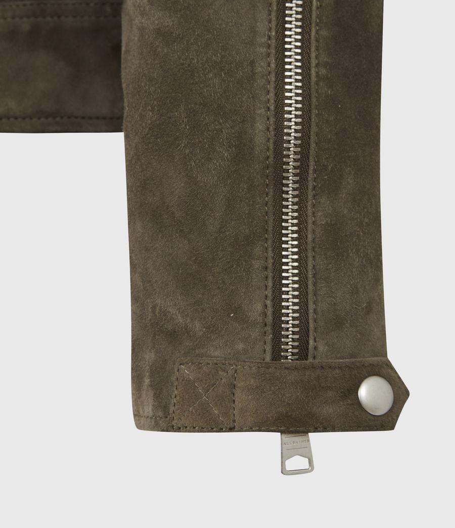 Men's Whelan Suede Biker Jacket (balkan_green) - Image 6