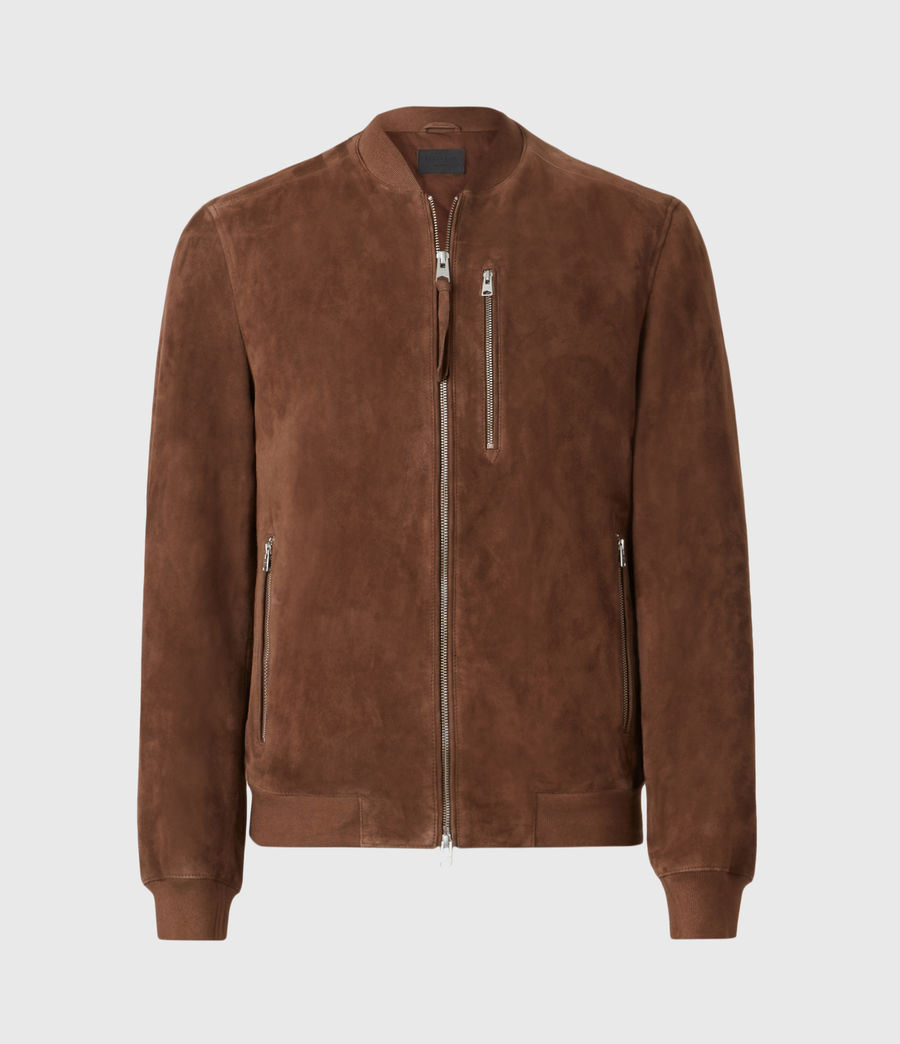 Men's Kemble Suede Bomber Jacket (bitter_brown) - Image 2