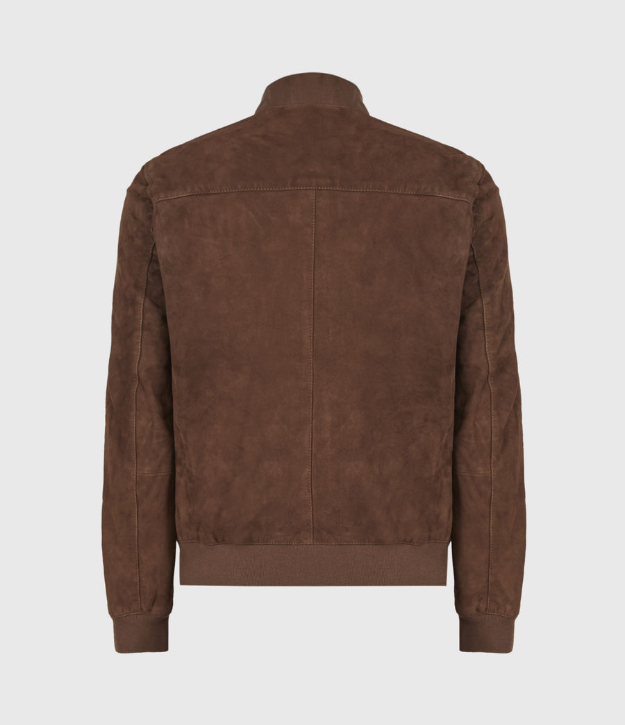 Mens Kemble Suede Bomber Jacket (bitter_brown) - Image 3