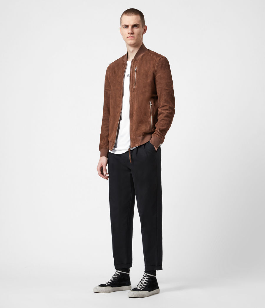 Mens Kemble Suede Bomber Jacket (bitter_brown) - Image 4