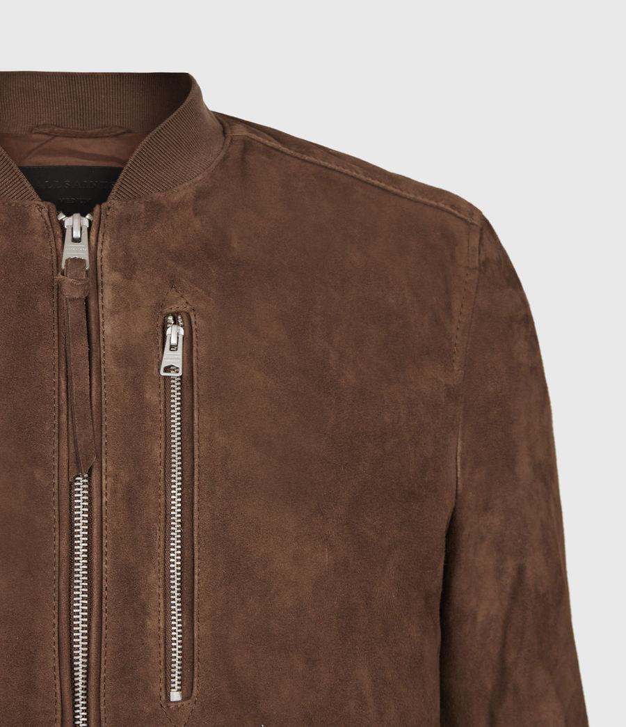 Mens Kemble Suede Bomber Jacket (bitter_brown) - Image 5