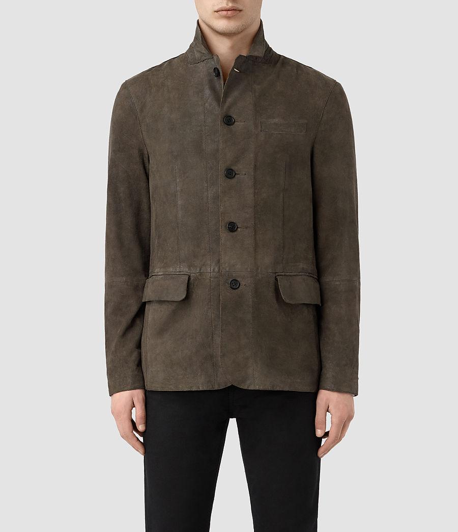 Men's Felton Suede Blazer (dark_slate_grey) - Image 1