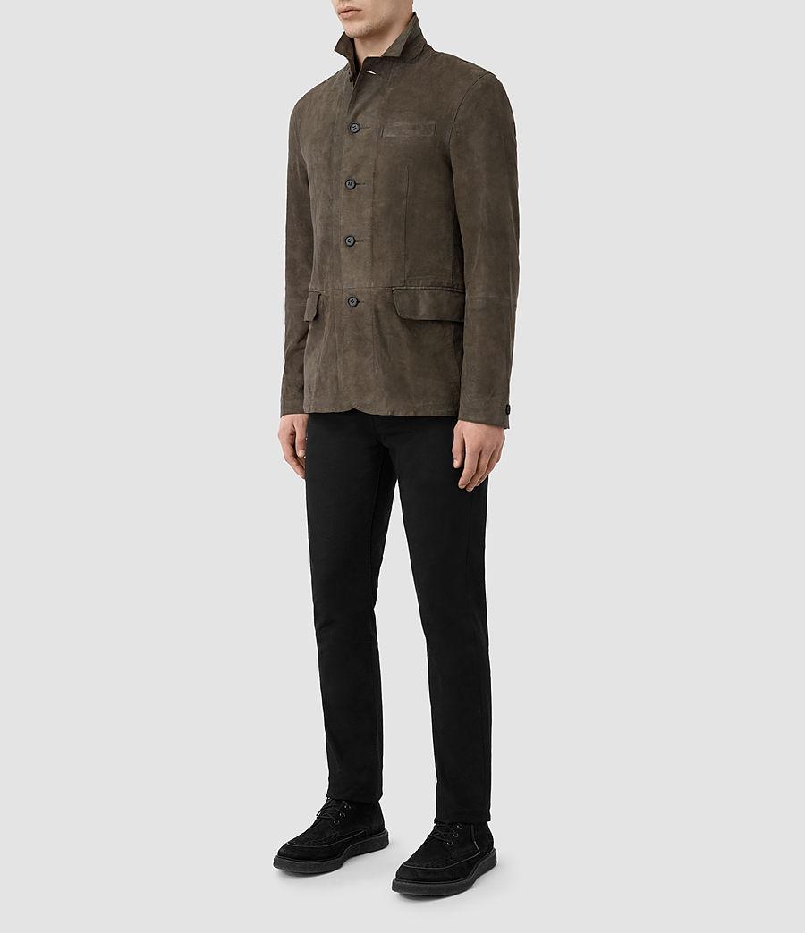 Men's Felton Suede Blazer (dark_slate_grey) - Image 2