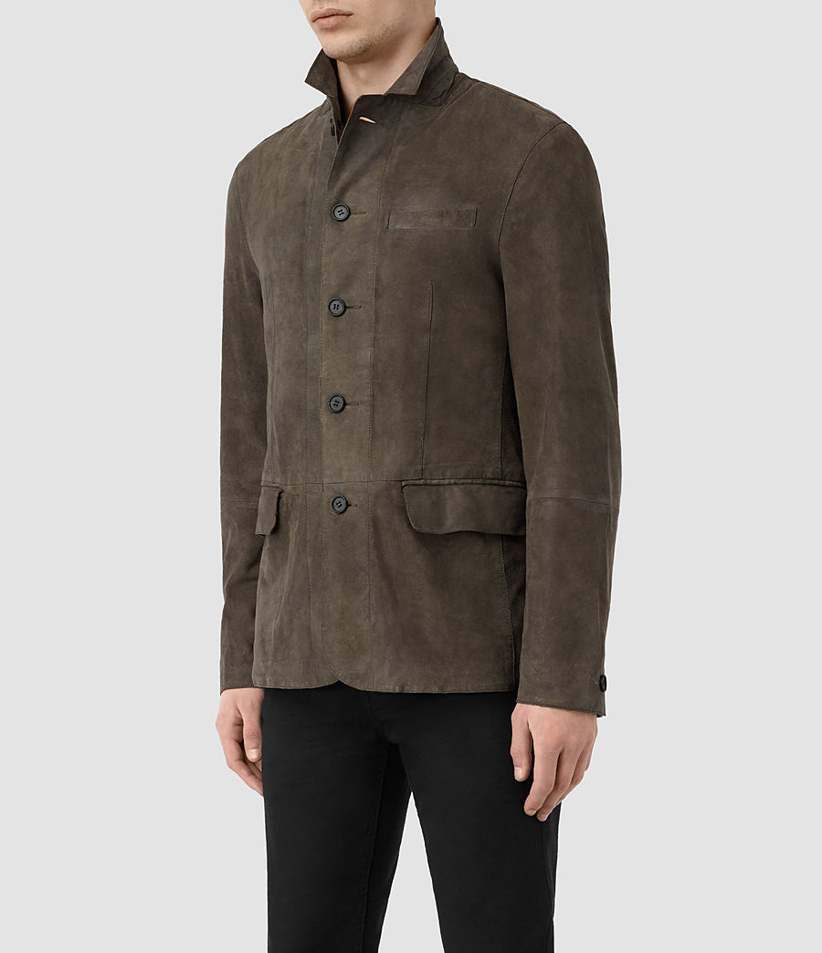 Men's Felton Suede Blazer (dark_slate_grey) - Image 5