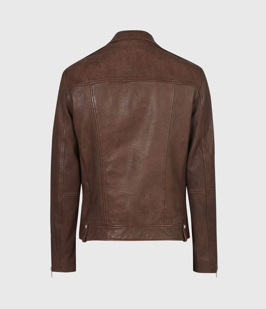 Men's Milo Leather Biker Jacket (tan_brown) - Image 3