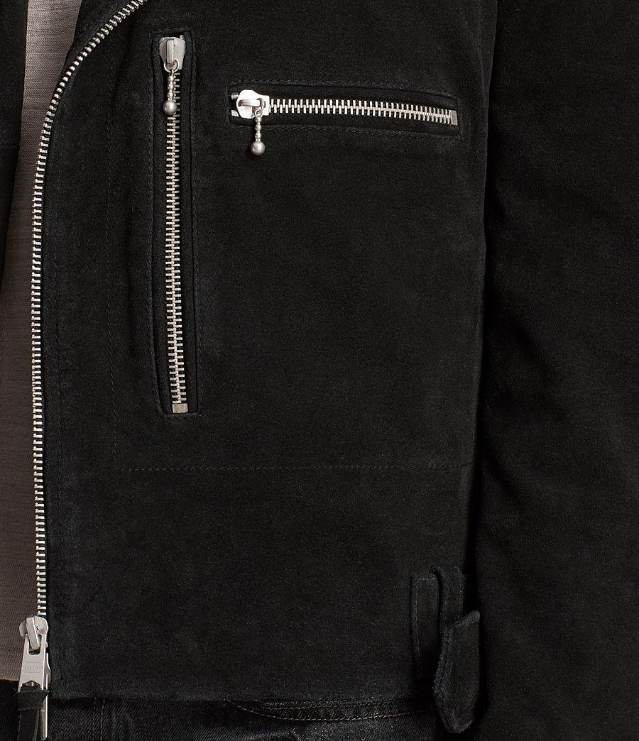 Mens Nash Suede Biker Jacket (washed_black) - Image 6
