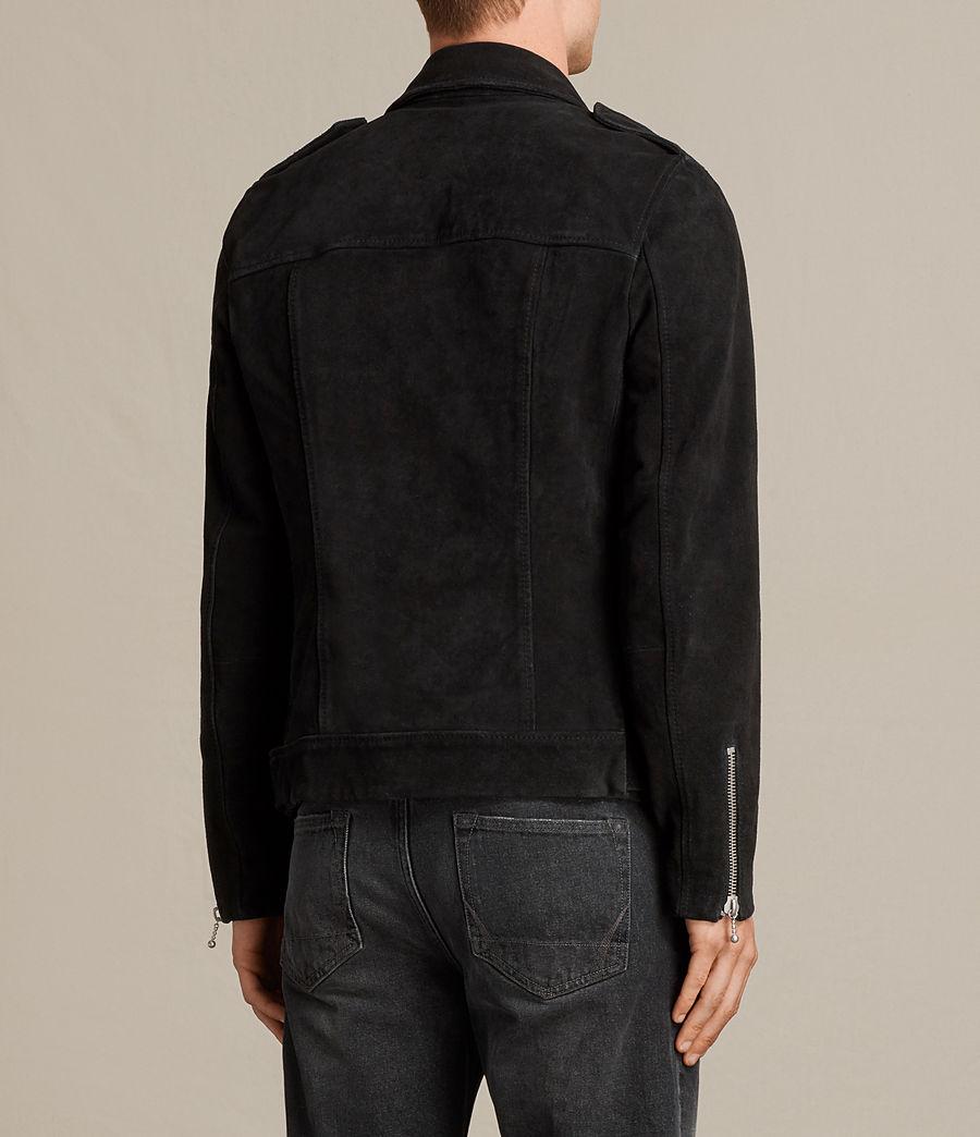 Mens Nash Suede Biker Jacket (washed_black) - Image 8