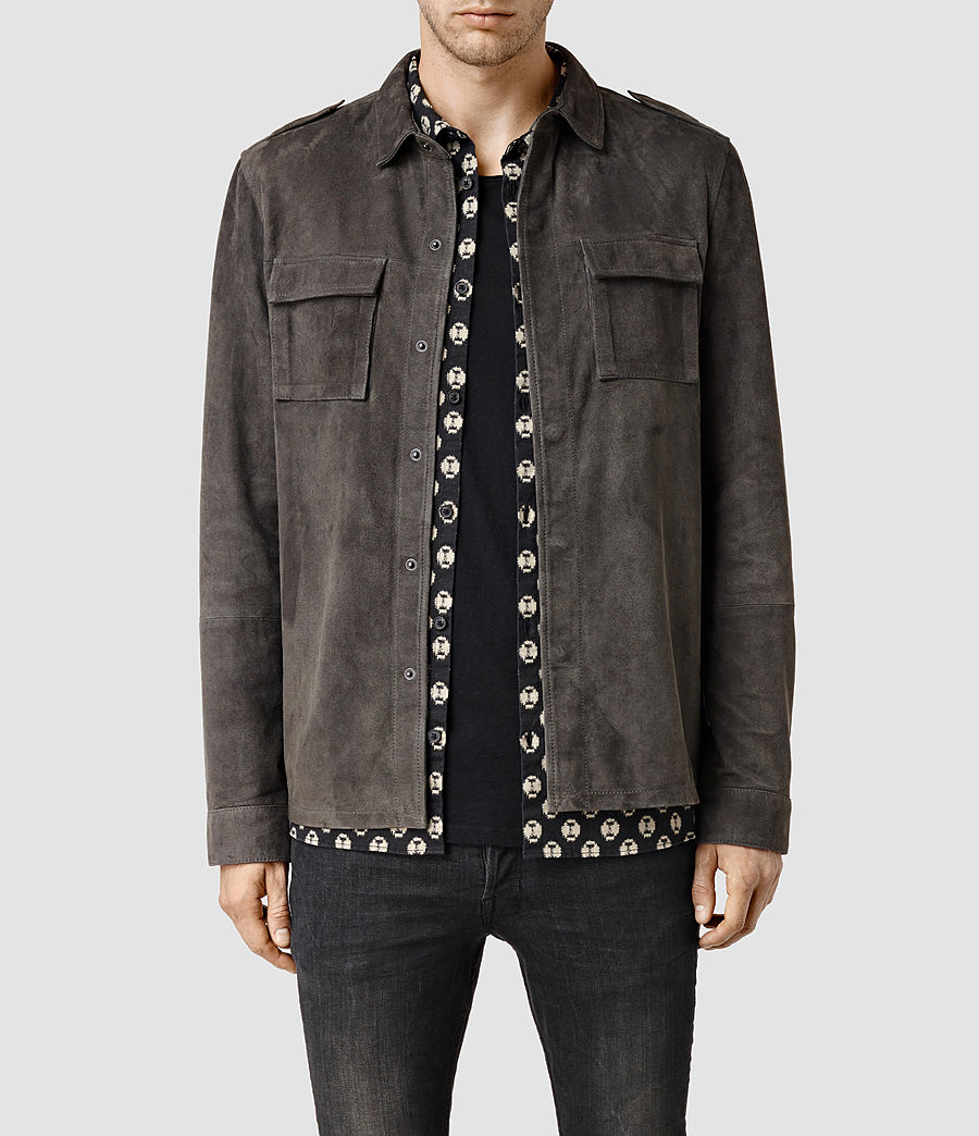 Men's Nassau Leather Shirt (anthracite) - Image 1
