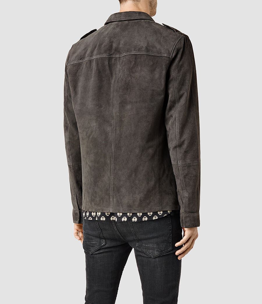Men's Nassau Leather Shirt (anthracite) - Image 3