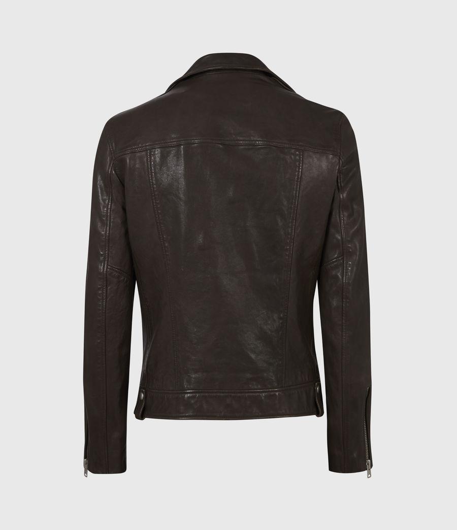 Mens Milo Leather Biker Jacket (bitter_brown) - Image 3