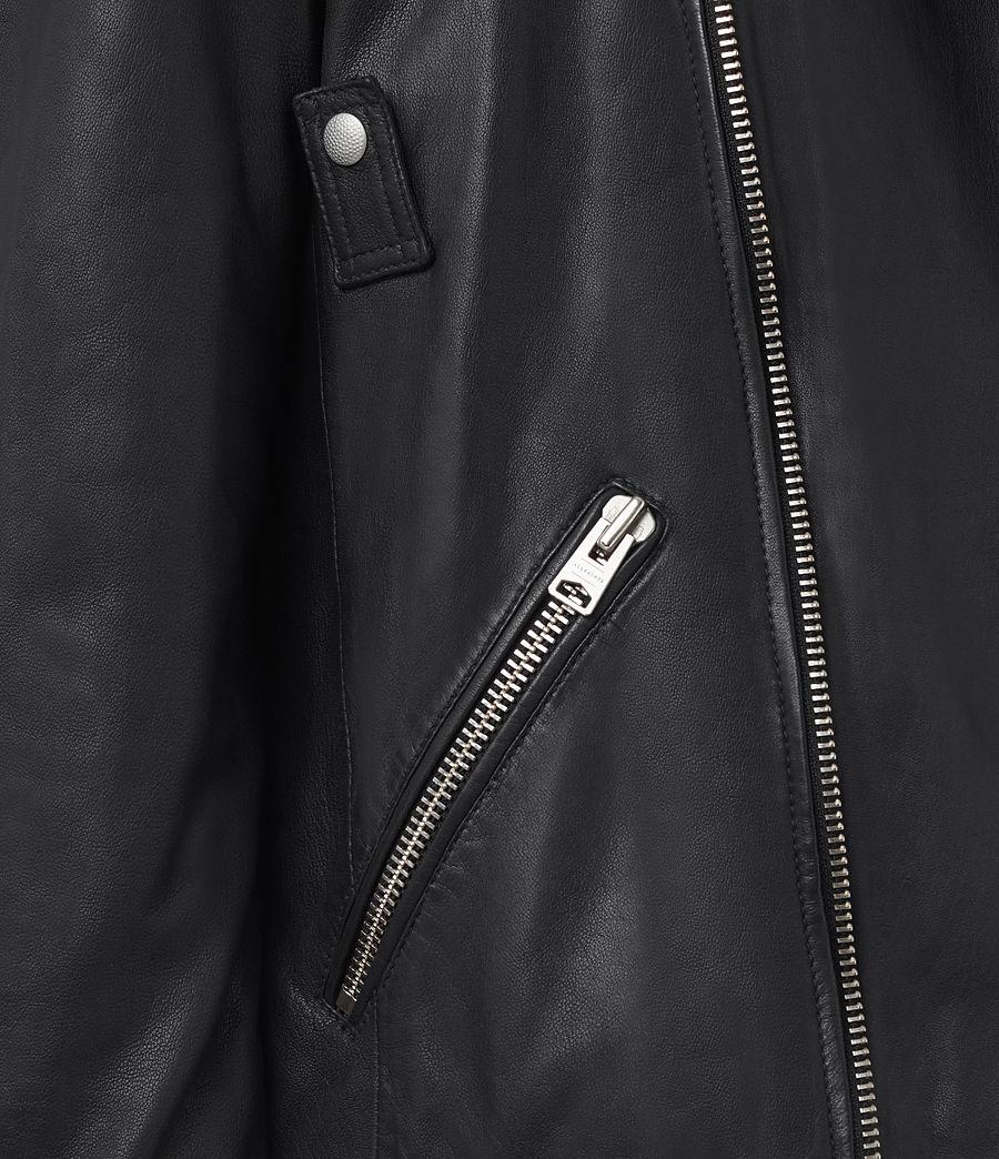 Mens Odell Leather Biker Jacket (ink_navy) - Image 4