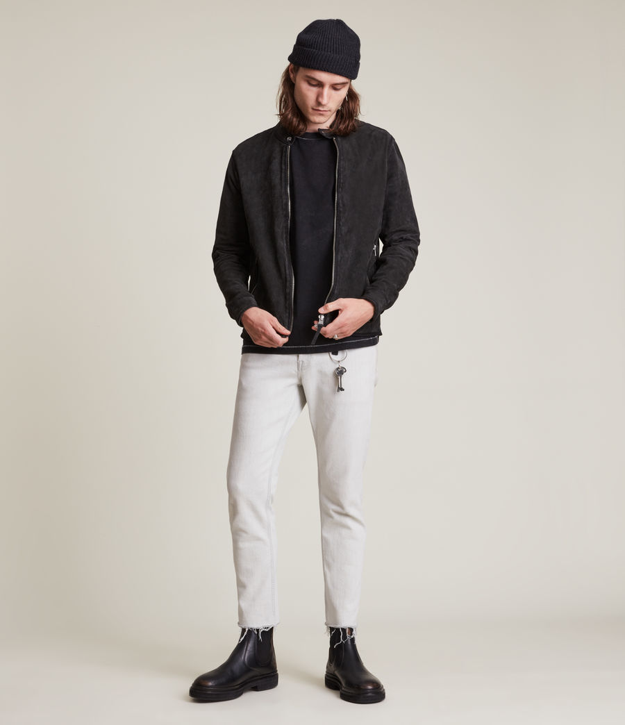 Hommes Malick Suede Jacket (charcoal) - Image 1