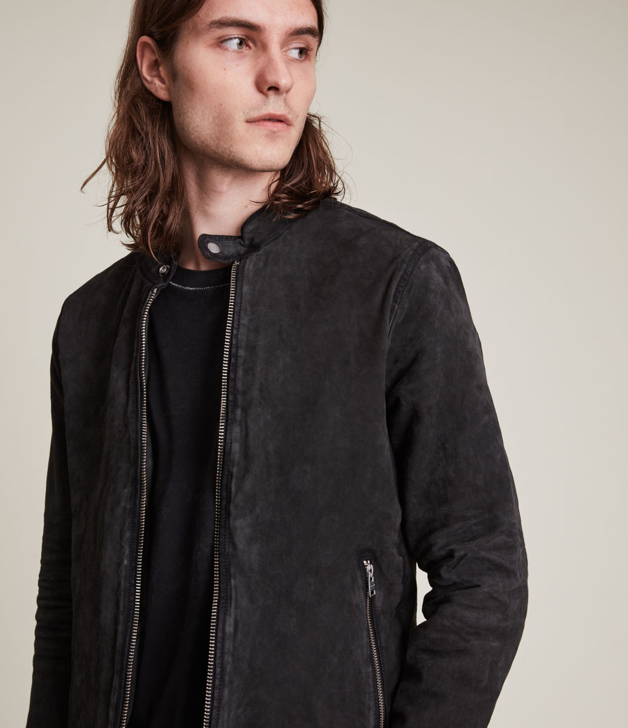 Hommes Malick Suede Jacket (charcoal) - Image 2