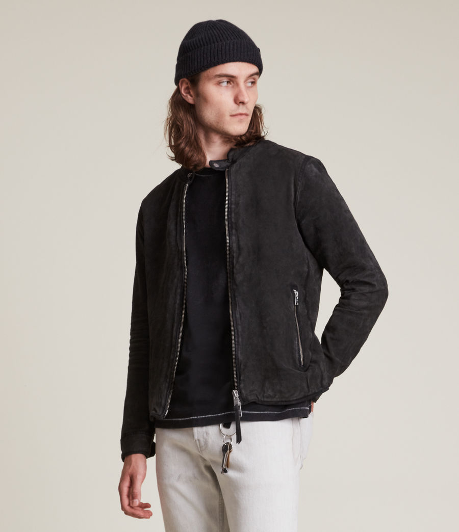 Hommes Malick Suede Jacket (charcoal) - Image 3