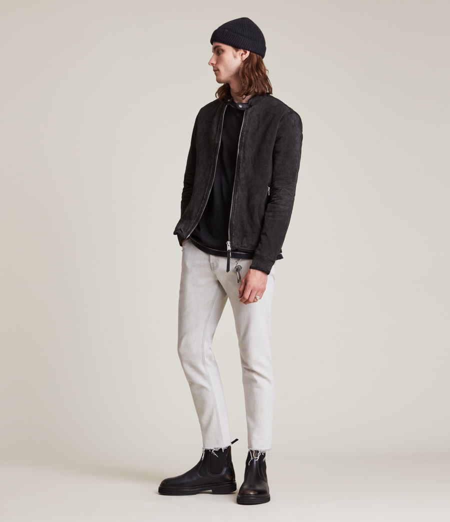 Hommes Malick Suede Jacket (charcoal) - Image 4