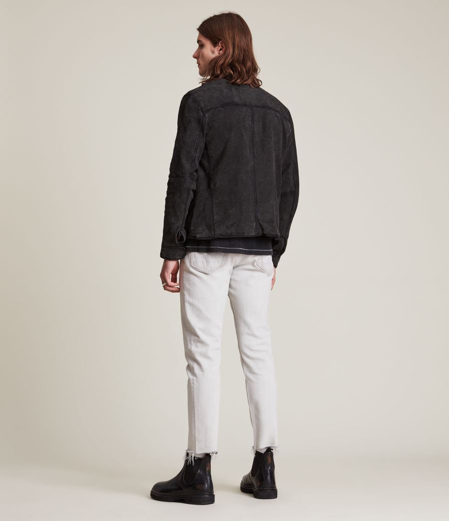 Hommes Malick Suede Jacket (charcoal) - Image 6