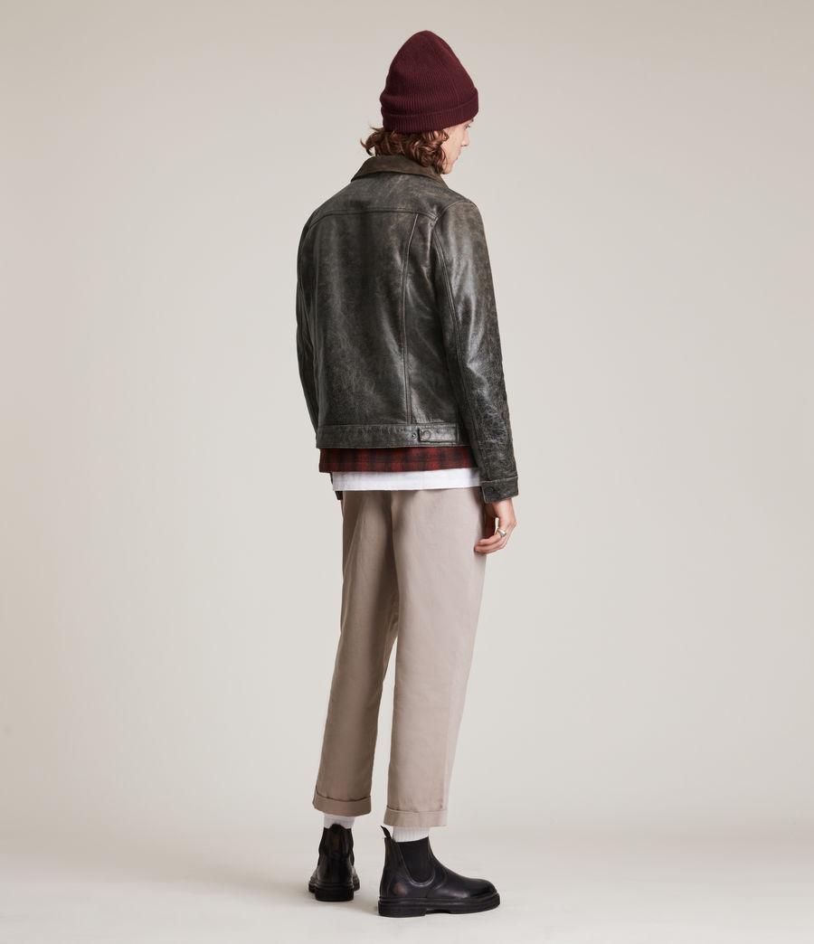 Hommes Naru Leather Jacket (black_brown) - Image 6