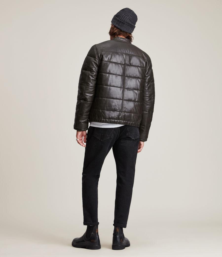 Herren Russel Leather Puffer Jacket (khaki) - Image 6