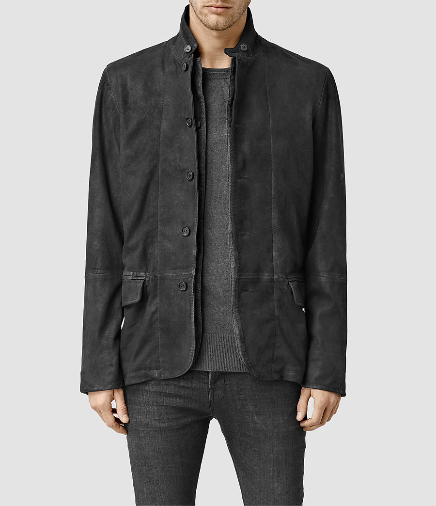 Hombres Emerson Leather Blazer (anthracite_grey) - Image 1