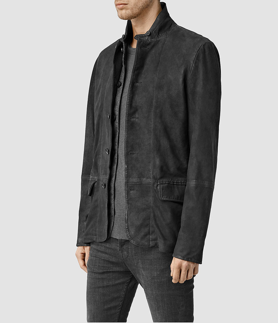 Hombres Emerson Leather Blazer (anthracite_grey) - Image 2